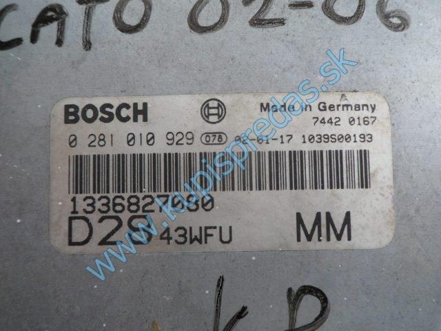 riadiaca jednotka motora na fiat ducato 2,8jtd, 0281010929