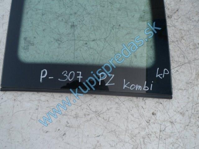 pravé zadné sklo na peugeot 307 kombi, combi do karosérie
