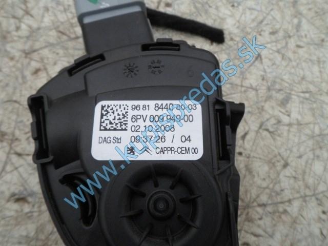 elektrický plynový pedál na peugeot 207 1,4i, 9681844080-3