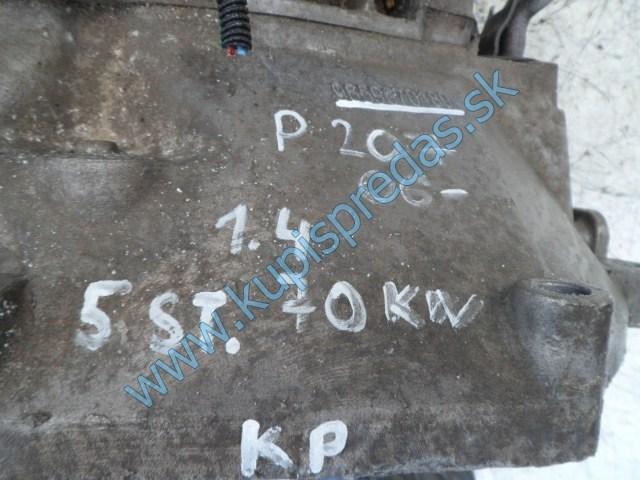 prevodovka na peugeot 207 1,4i, 5 rýchlostná, 20CQ74